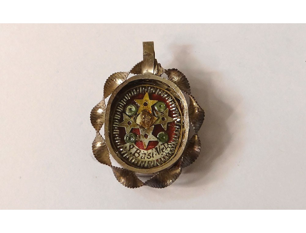 Reliquary pendant medallion st basil silver metal reliquary nineteenth view full size reliquary pendant aloadofball Image collections
