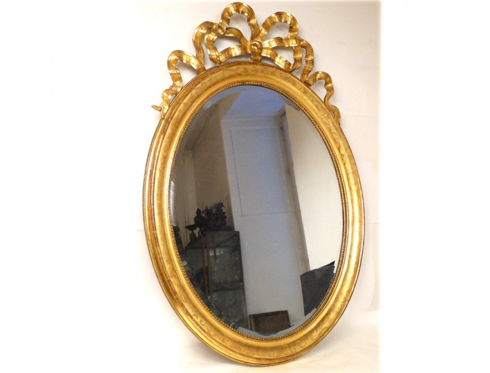 mirror louis xvi gilt wood frame napoleon iii 19th. Black Bedroom Furniture Sets. Home Design Ideas