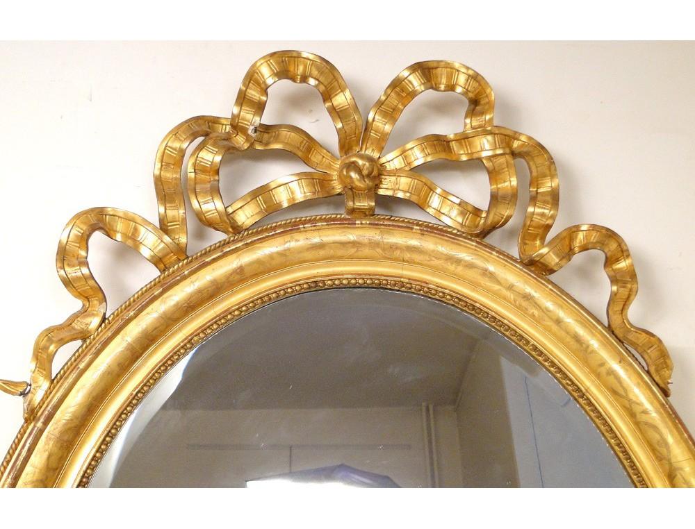 Mirror Louis Xvi Gilt Wood Frame Napoleon Iii 19th