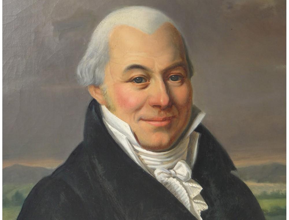 Hst Table Jb Portrait Notable Gentleman Louis Germain