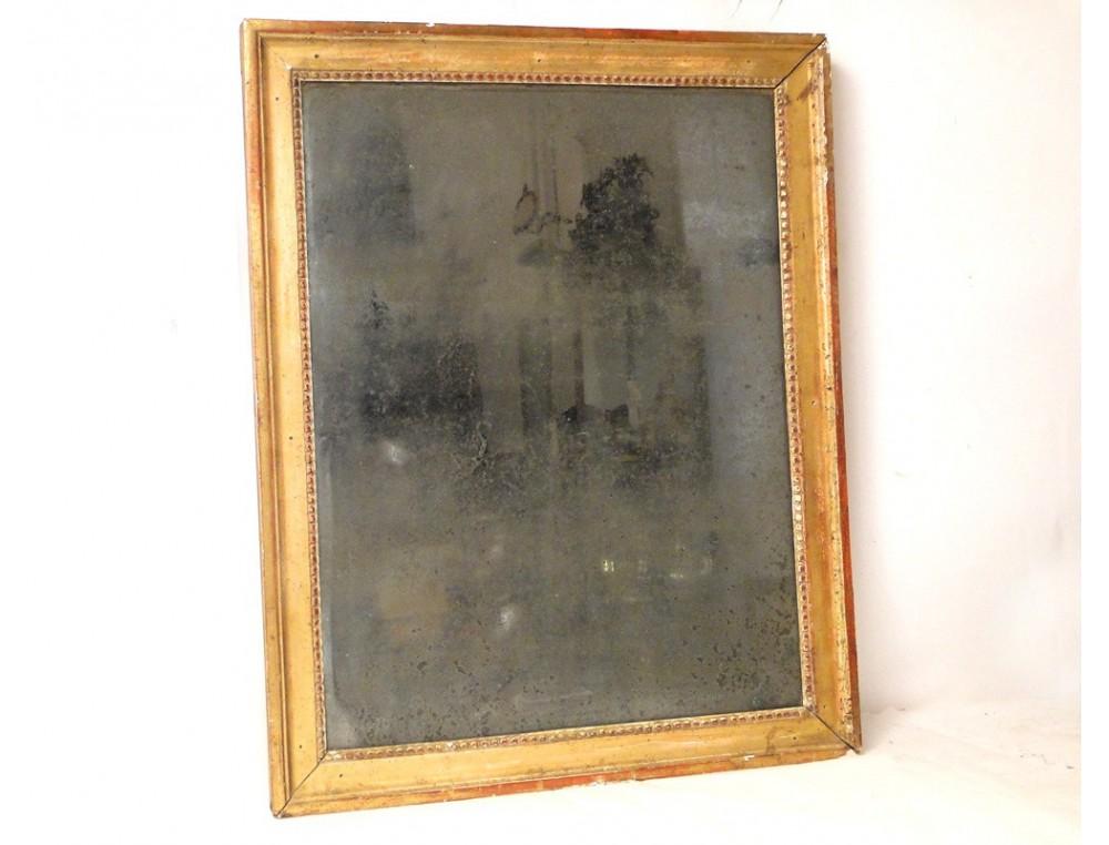 Rectangular Mirror Gilded Wood Frame 18th
