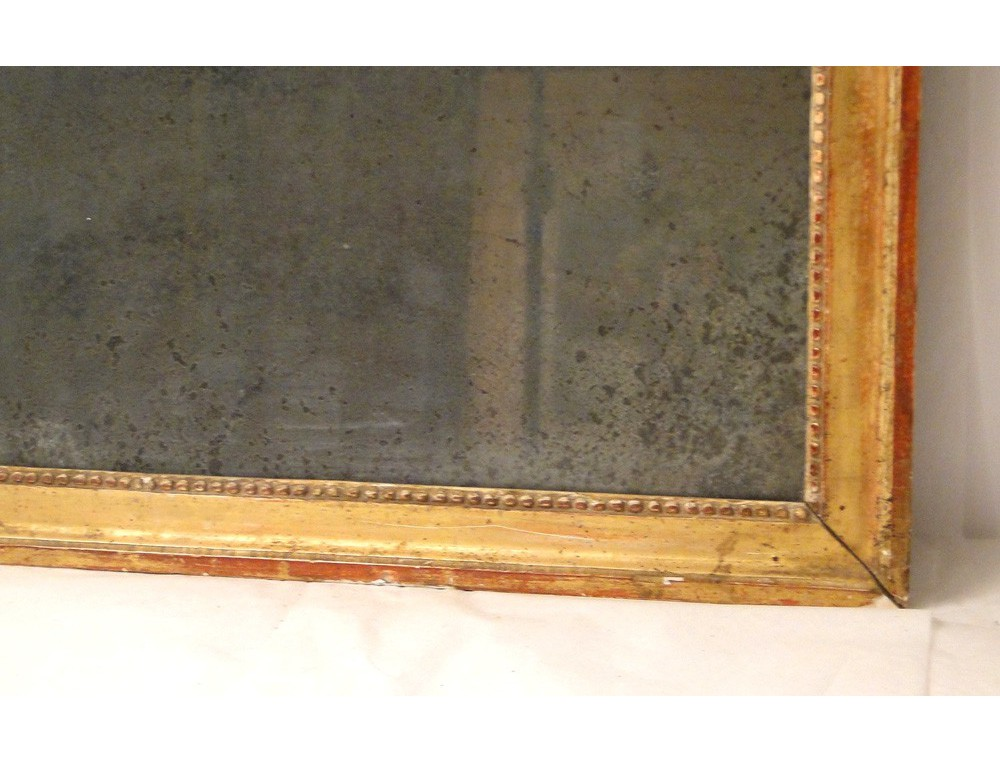 Rectangular Mirror Gilded Wood Frame 18th