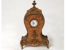 Clock leather gilt ormolu clock iron nineteenth century