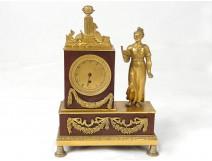 Gilt bronze clock movement rooster Menard lainé Paris 1st Empire XIX