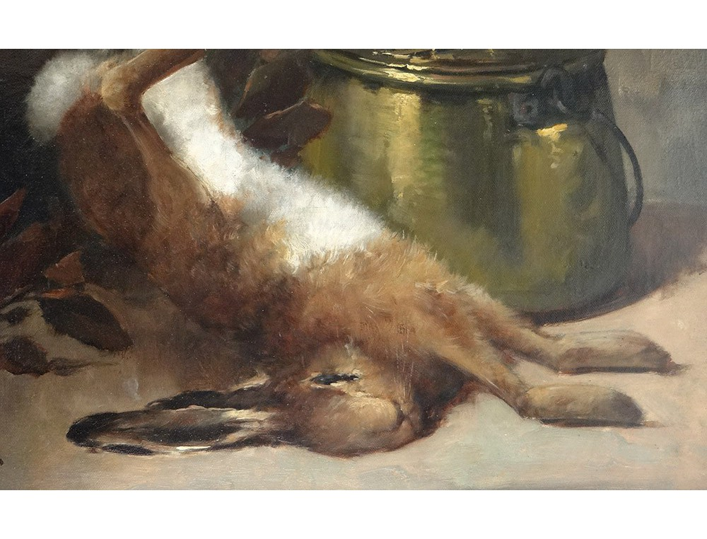 Hst Dead Pair Back Kind Paintings Rabbit Hunting Pheasant