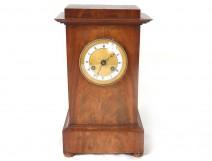 Pendulum terminal mahogany ormolu clock Paris First Empire XIX century