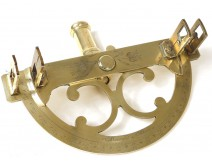 Graphometer alidade finlets bronze gilt brass Meurant Paris measure XVIIIè