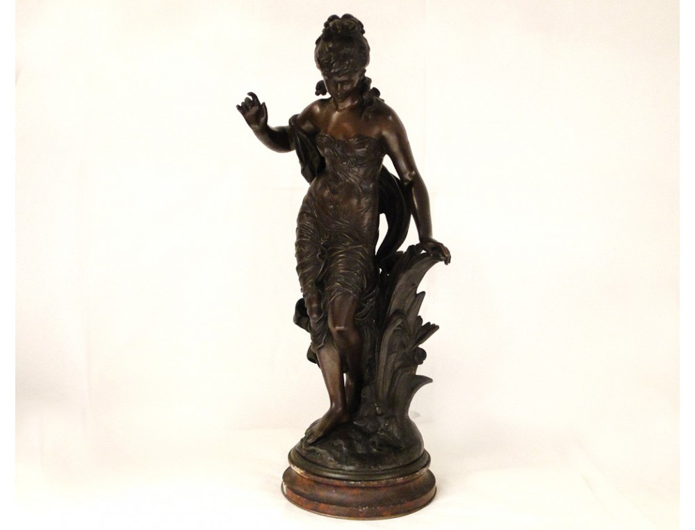 Bronze Sculpture By Auguste Moreau Art Nouveau 19th