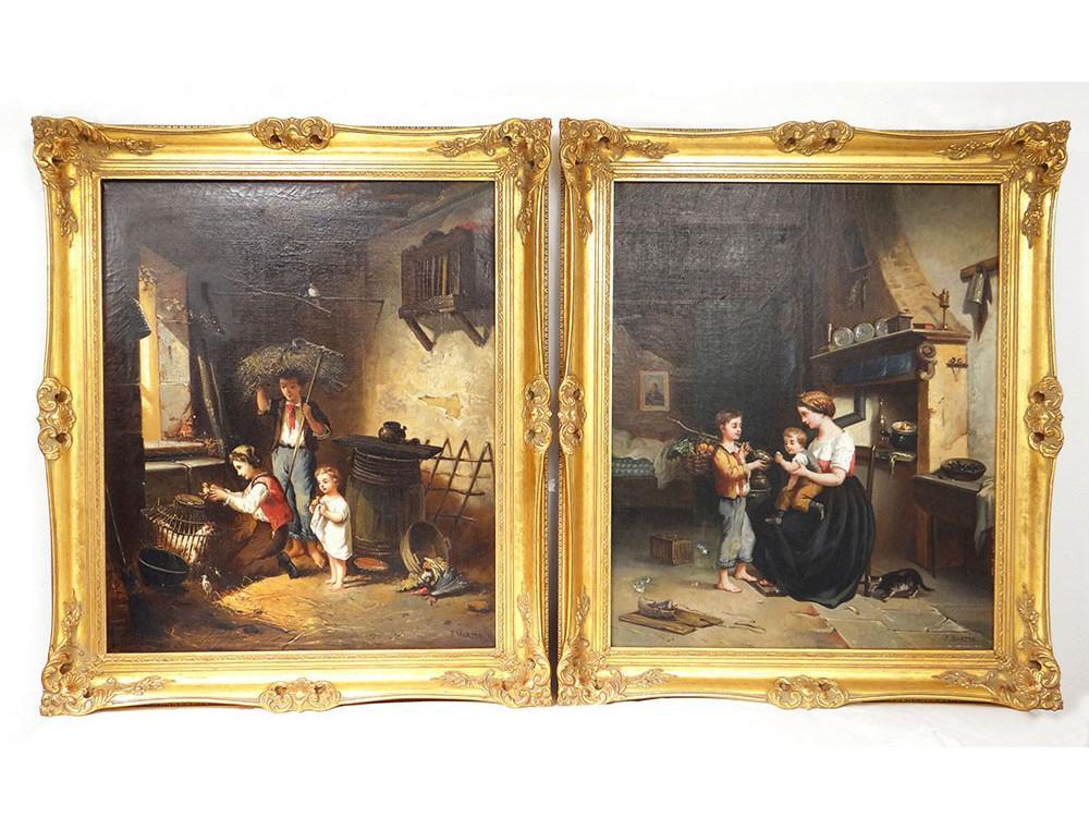 https://www.antiques-delaval.com/8294-69219-jqzoom/pair-hst-szene-children-inside-farm-animals-jmartin-xixth-century.jpg