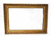 rectangular wooden frame golden palmettos Restoration XIXth century