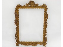 Photo frame holder brass gilded rococo stylized foliage late nineteenth century