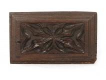 decorative wooden panel carved stylized floral motifs seventeenth Haute Epoque