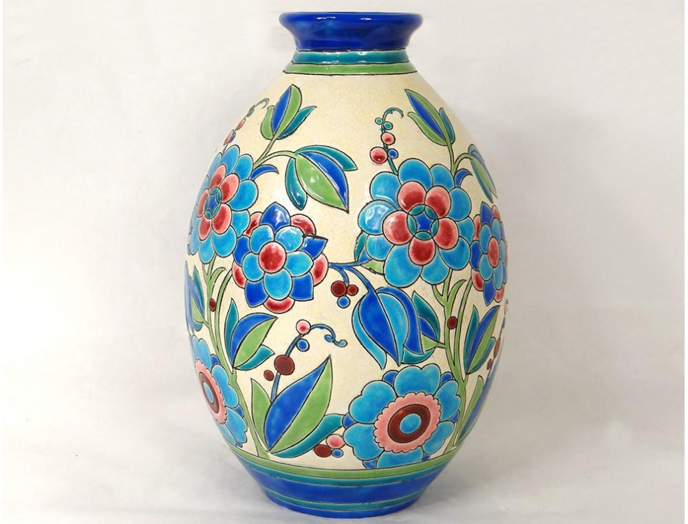 Ceramic vase boch fr res keramis belgium catteau flowers - Deco vintage belgique ...
