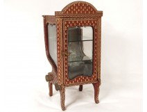 Small chair showcase gold leather carrying iron flowers XIX Restoration