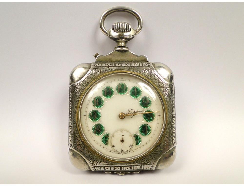 Silver Pocket Watch Victor Hugo 19th
