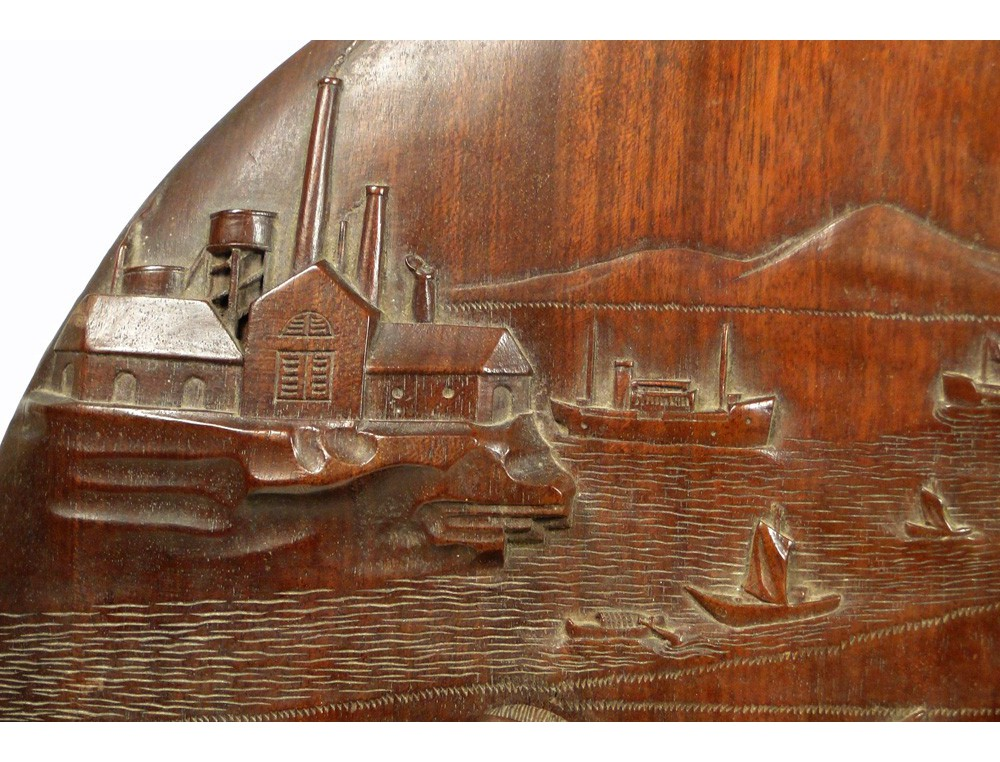 Bas Relief Sculpture In Wood Vietnam Thanh Tri 19th