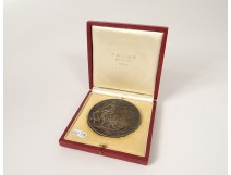 Medal expansion Falize French silversmith sterling silver