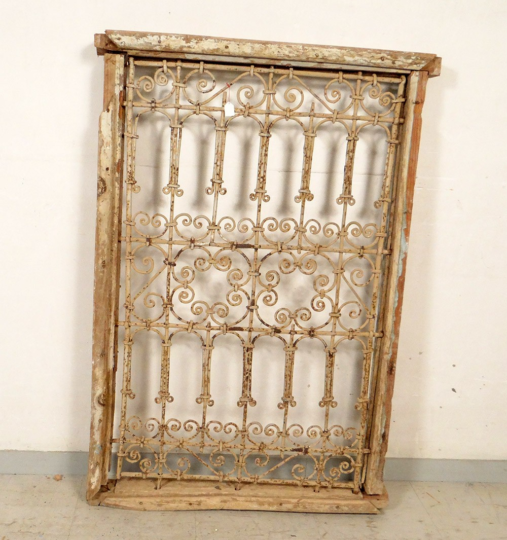 moroccan window grate wrought iron painted wood morocco maghreb atlas deco xx ebay. Black Bedroom Furniture Sets. Home Design Ideas