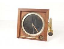Compass level and long views of pedestal mahogany nineteenth