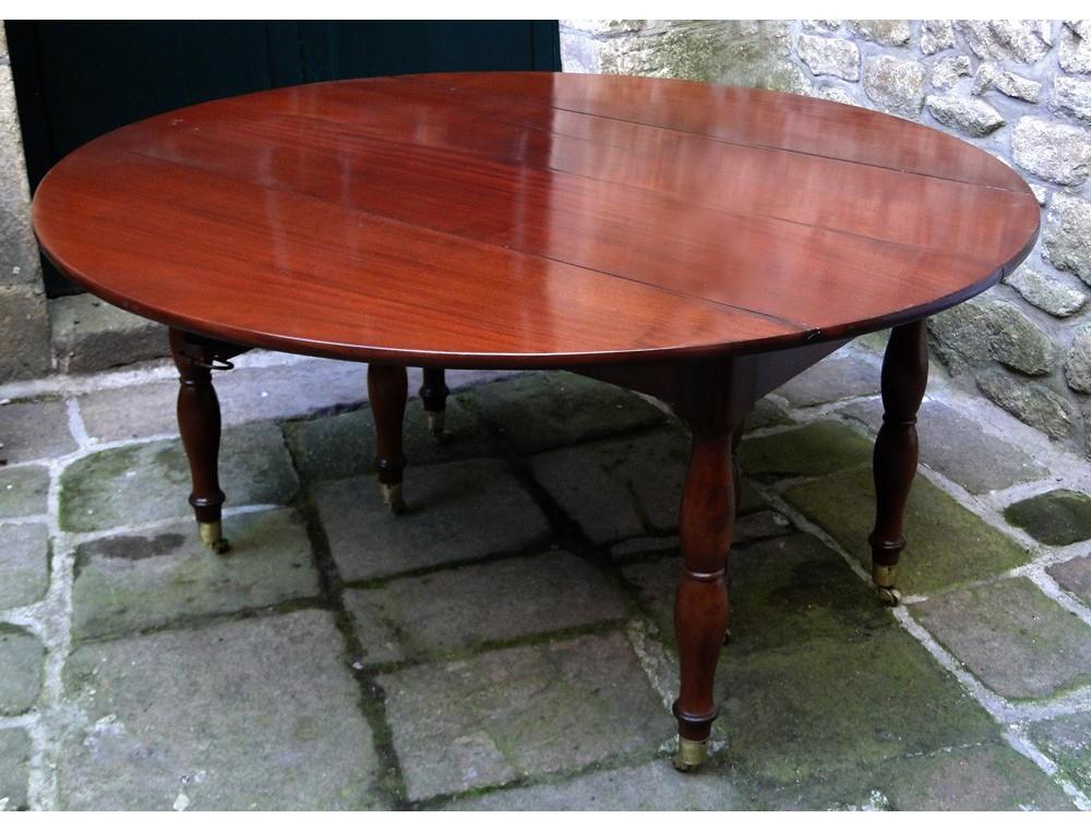 great cuban mahogany table restoration 19th