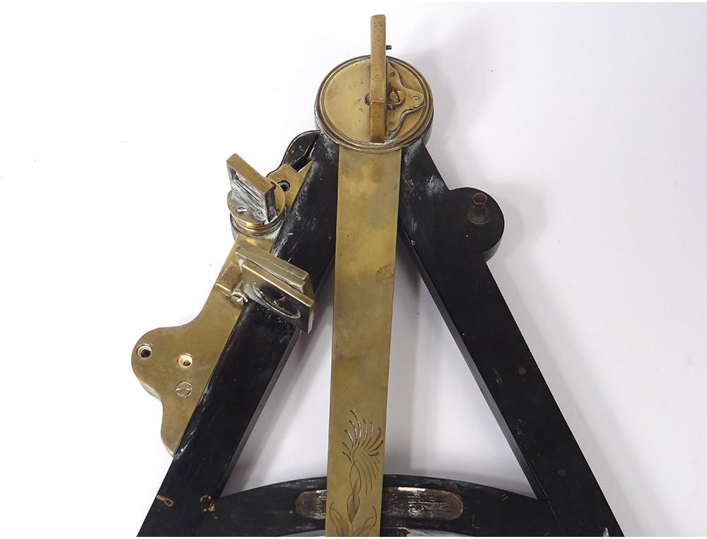 Octant Marine Navigation Blackened Wood Gilded Brass