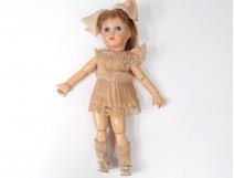 Small porcelain doll mignonette SFBJ doll clothes France Paris XXth