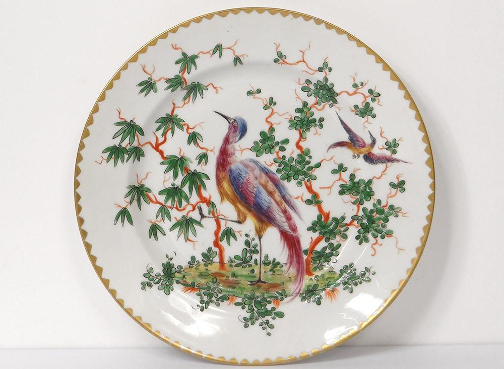 assiette porcelaine anglaise chelsea derby oiseau arbres xix me si cle ebay. Black Bedroom Furniture Sets. Home Design Ideas
