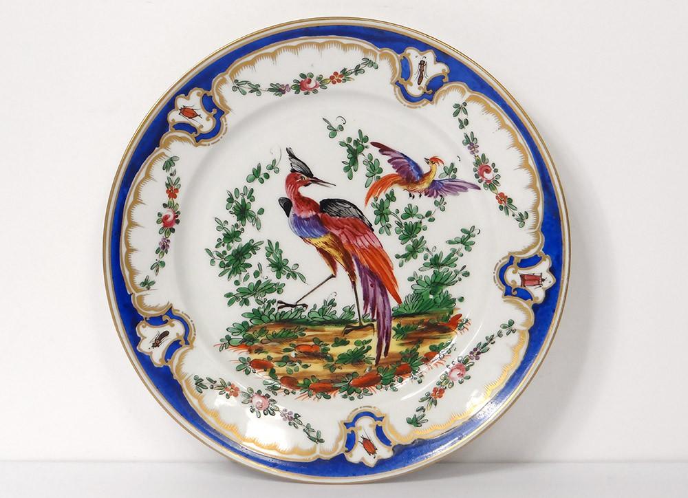 assiette porcelaine anglaise chelsea derby oiseaux insectes guirlandes xix ebay. Black Bedroom Furniture Sets. Home Design Ideas