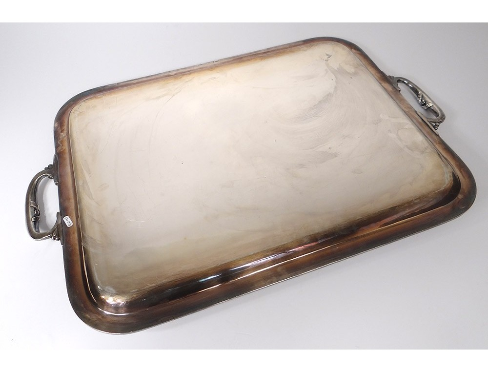 Large Tray With Handles Christofle Silver Plated Ribbons