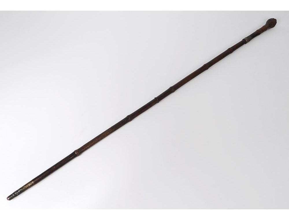 System Sword Cane Bamboo Was Xixth Century