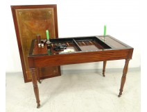 game table backgammon chips Jacob mahogany feet candlesticks Restoration XIXth