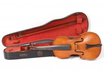 1/2 violin child luthier Paul Beuscher Bd Beaumarchais Paris XXth bow