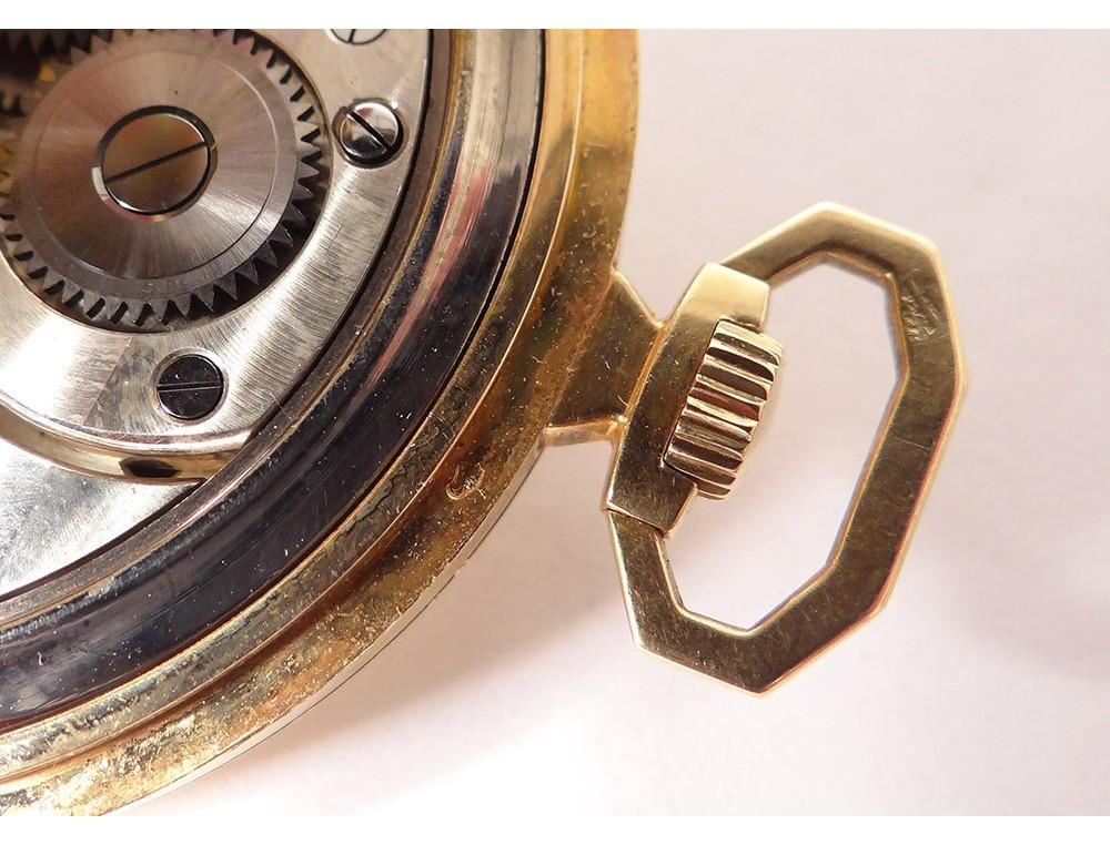 Omega Pocket Watch Stopwatch Solid Gold 18 Carat Art Deco Swiss Twentieth