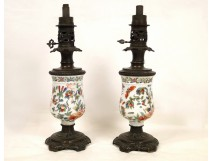 Pair of oil lamps in china 19th