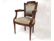 Children's chair Louis XVI carved walnut seat eighteenth century