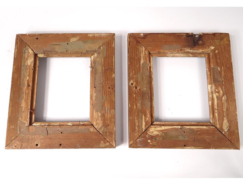 Pair small wooden Empire frames frame stuccoed golden palmettos ...