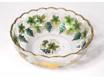 Cup enamelled glass gilding leaf vine grapes nineteenth century
