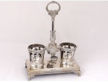 Vinegar cruet door sterling silver Empire nineteenth old man Paris Garreau
