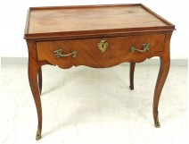 Louis XV carved wood table ormolu curved legs eighteenth century