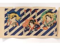 Print Japanese ukiyo-e Kunichika Toyohara women characters Theater 19th