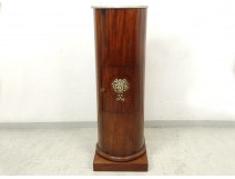 Column somno mahogany bronze Empire Van Roye Paris mascaron Apollo XIX