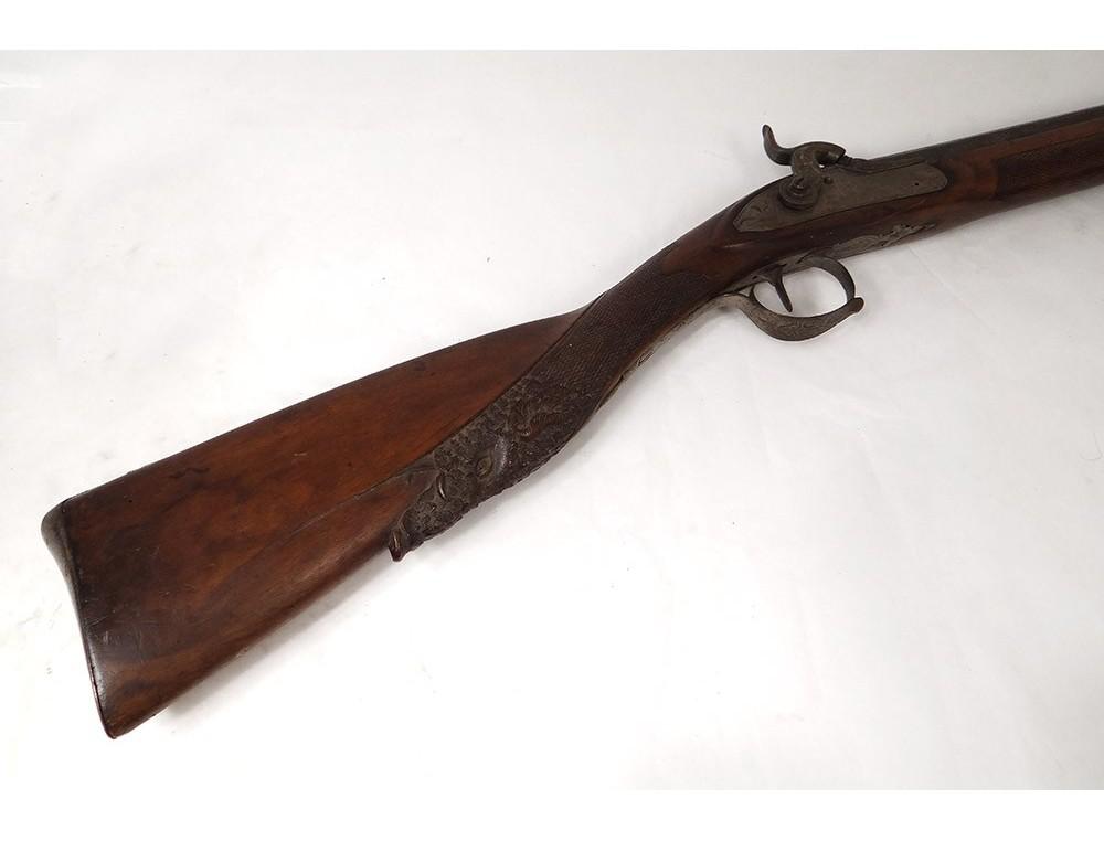 Shotgun Wooden Carved Wooden Boar Elg Belgium Li 232 Ge Xixth