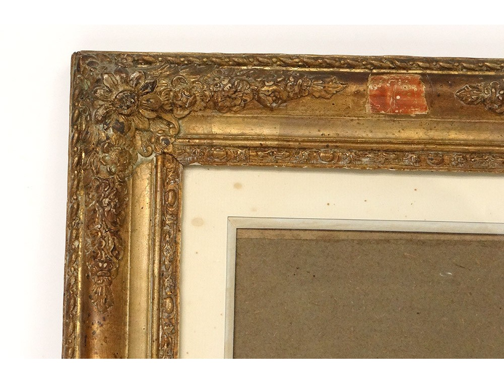 Pair Of Wood Frames Stucco Gilt Antique French Frame 19th