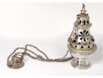 Censer bronze silvered church censer XIXth century
