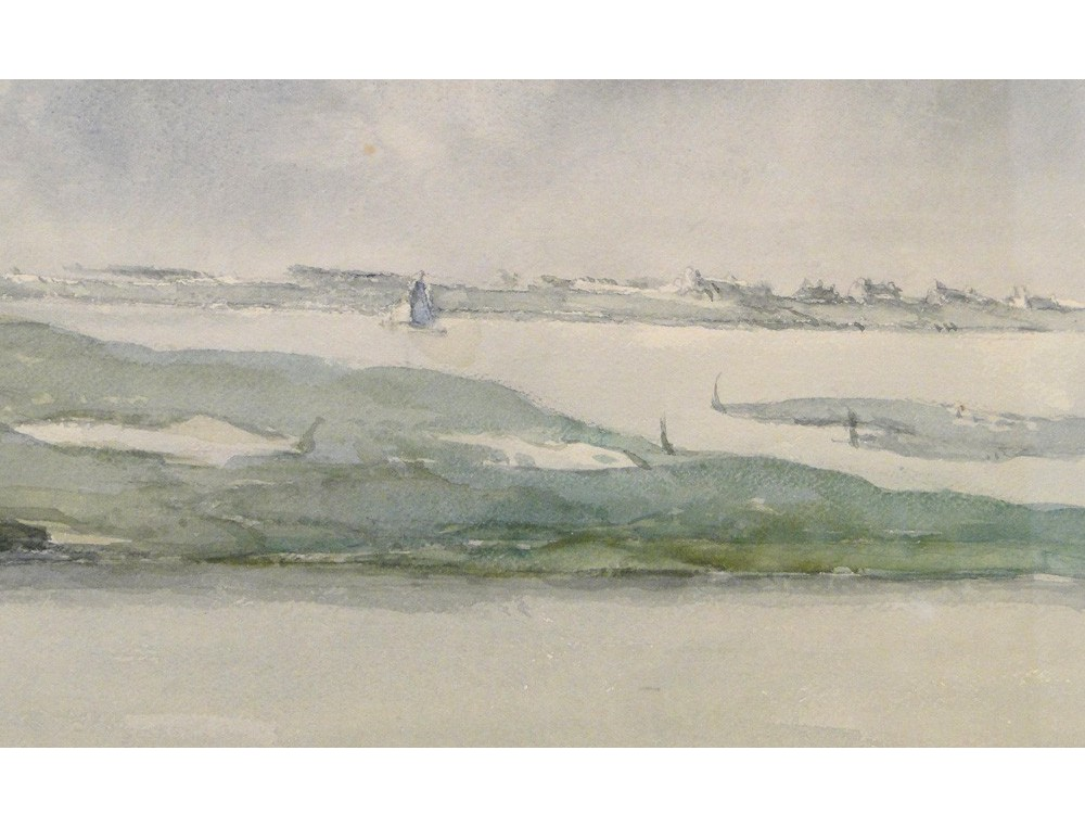 Marine Watercolour Painting Gulf Of Morbihan Mettenhoven
