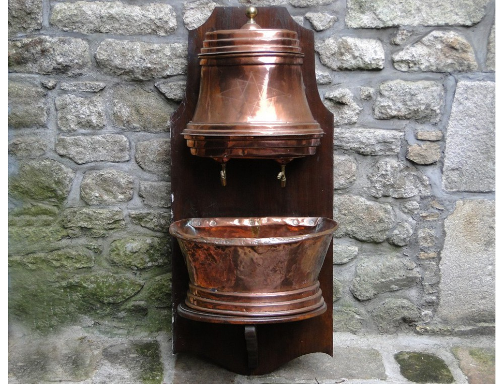Fontaine à Eau Dintérieur En Cuivre XVIIIe - Fontaine a eau d interieur