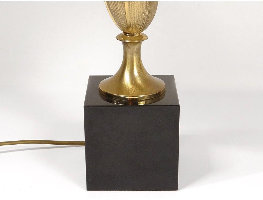 Lampe Maison Charles France Epi Of Corn Gilt Bronze Marble Black