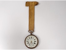Watch regulator metal dial enamelled cloth golden watch nineteenth century