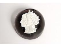 Sulfur crystal paperweight Baccarat Queen Elisabeth II Philip 1953 XXth c.