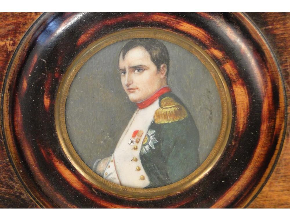 Miniature Painted On Ivory Nineteenth Napoleon Legion Of Honor